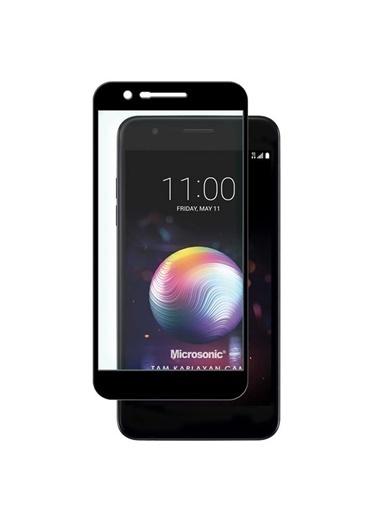 Microsonic LG K30 Tam Kaplayan Temperli Cam Ekran Koruyucu Siyah Siyah